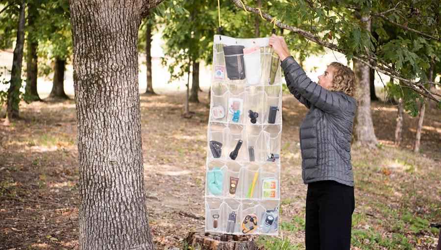 Hanging Shoe Rack for Camping Utensils